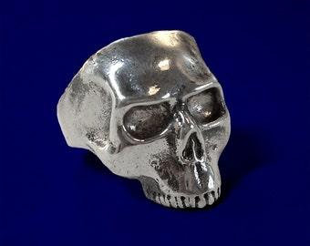 Silver skull ring - solid sterling silver.