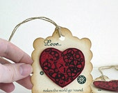 Love Makes the World Go 'Round // Gears // Valentine's Day // Love // Gift Tags // Set of 6