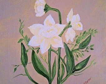 "Painting ""Daffodil Delight"" 12x12"""