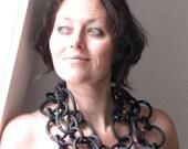 Oversized necklace   statement   rubber   XL necklace   model Toya
