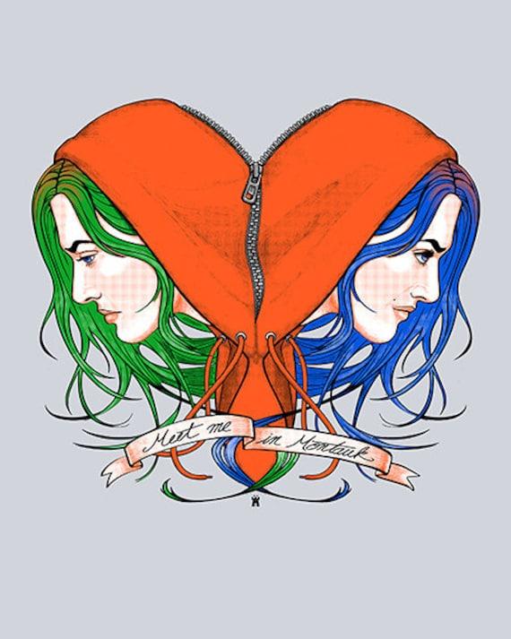 Clementine's Heart--Art Print 8x10