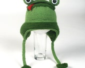 PATTERN-Knit Frog Hat