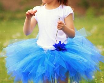 Blue Pixie Tutu - Girls Size 0 6 12 18 Months 2T 3T 4T 5T 6 7 8... First Birthday, Photo Prop, Fairy Halloween Costume, Shower Gift