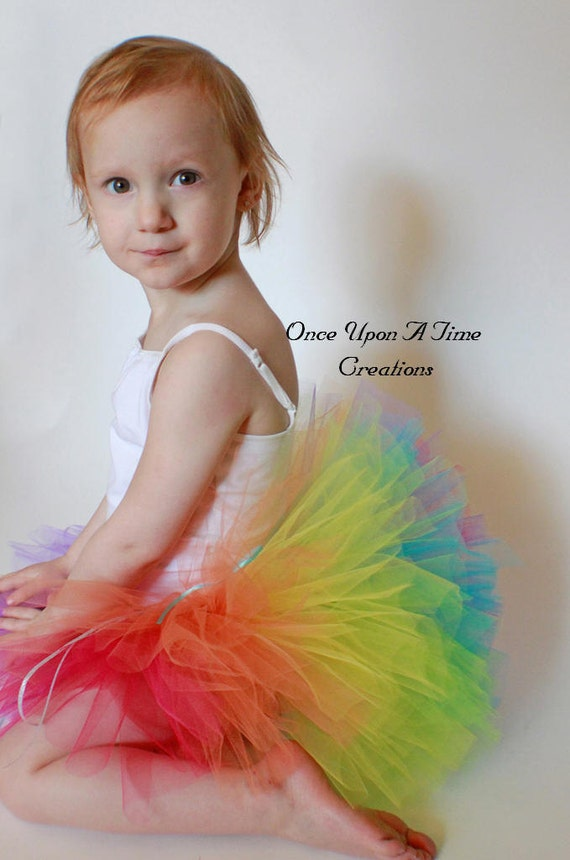 Birthday Surprise Rainbow Tutu - All Sizes - 0 3 6 9 12 Months 2t 3t 4t 5 6 7 8 10 12 Teen Adult ... First Birthday, Photo Prop, Dress Up
