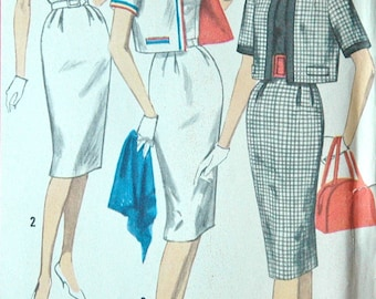 1960's Simplicity Dress and Jacket Pattern - Bust 34 - no. 3398