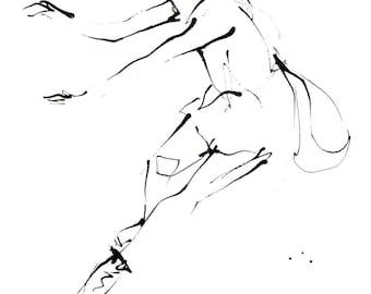 Dance Drawing Series Print, Ballerina II (A4)