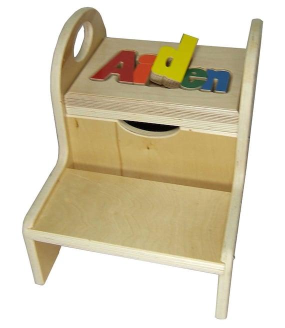 Child Puzzle Step Stool