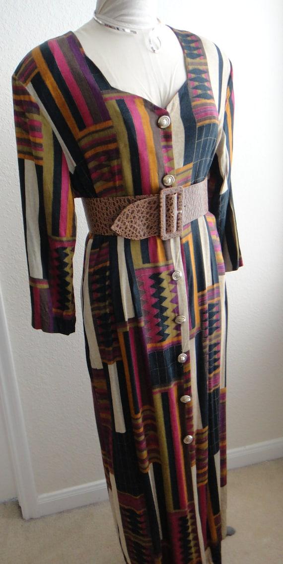 Fall Multicolored Long Sleeve Dress