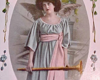 """Beautiful Art Nouveau Era Angel Postcard-""""Innocence"""""""