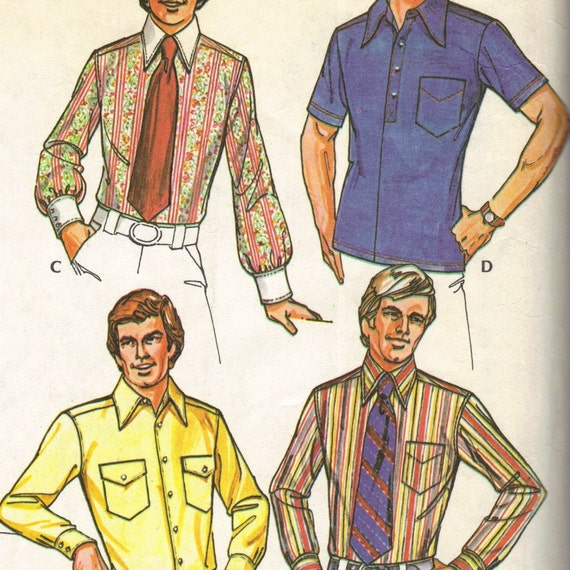 1970s McCall's 3439 sewing pattern // men's shirt wardrobe