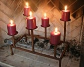 metal candle holder for fireplace