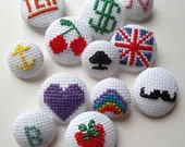 Poppy's Buttons and Badges - Cross Stitch Kit