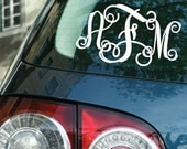 """Entwined Monogram Car Decal 3.5"""" x 5.5"""""""