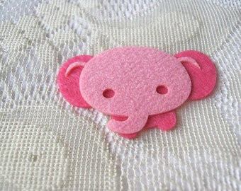Pink Elephant, Iron on applique, Baby shower, Generous Elephant, Kid toy, Card making, scrapbook, pillow cover decoration, baby supply, H16