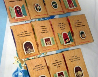 Tiny Golden Books - set of 11 tiny books - 1948 - hard to find
