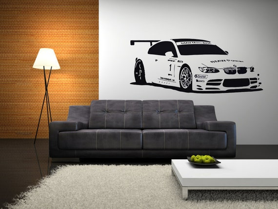 BMW Race Car Vinyl Wall Decal