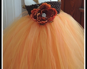 Fall flower girl tutu dress, Fall Tutu Dress, Fall Wedding