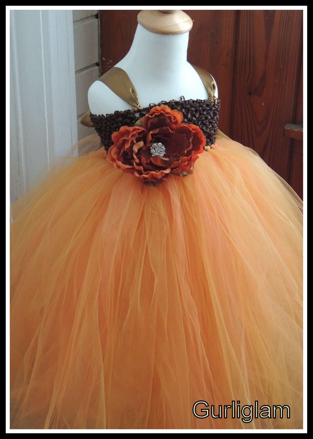 fall flower girl tutu dress fall tutu dress fall wedding. Black Bedroom Furniture Sets. Home Design Ideas