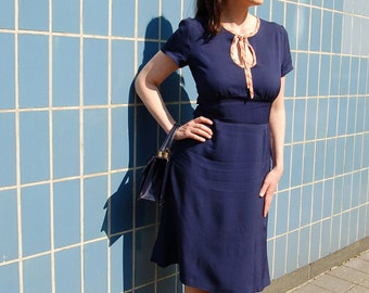 Lily 1940's vintage inspired custom made dress.