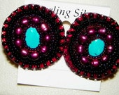 Turqoise and Pearl Post Earrings