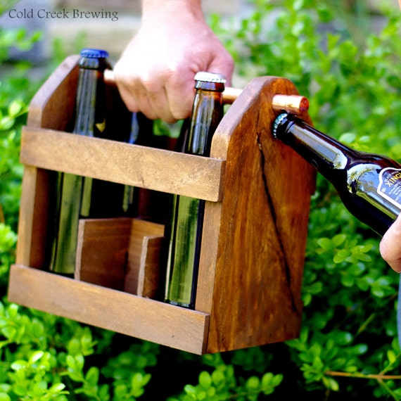 Six Pack Carrier - Beer Carrier - Beer Tote - Wood Beer Carton - 6 Pack