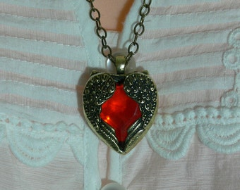 Angle Wing Heart Pendant and Chain - FS-106