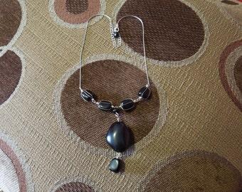 Onyx Necklace - 1960s -  FS-169