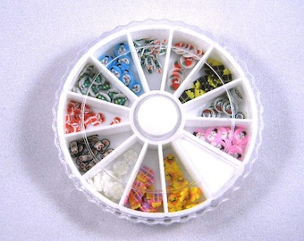 Christmas Fimo Cane Slices Nail Art Wheel, Polymer Clay Cane Slices