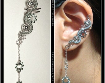 Lock Washer ear cuff