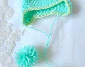 Crochet Froggy/Turtle Hat for MSD BJD