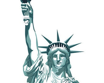 Statue of Liberty Print - 8.5'' x 11''