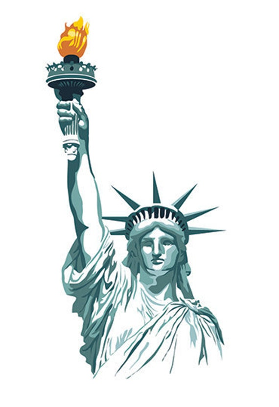 items similar to statue of liberty print 13   x 19   on etsy statue of liberty clipart printable statue of liberty clipart immigrants welcome
