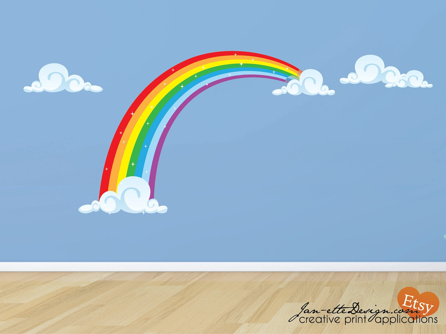 Rainbow Fabric Wall Decal Rainbow Wall Sticker
