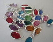 24 Channel Set Oval Swarovski Drops - 6mm x 4mm - Includes all 12 birthstones (2 of each)