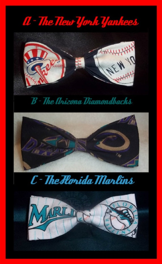 BowTies Made From MLB Fabrics - New Ties Coming VERY S00N!! - SHIPPING 0NLY 1.99