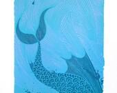 The Sea Monster, screenprint