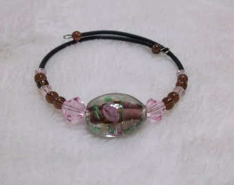 Brown and pink bracelet