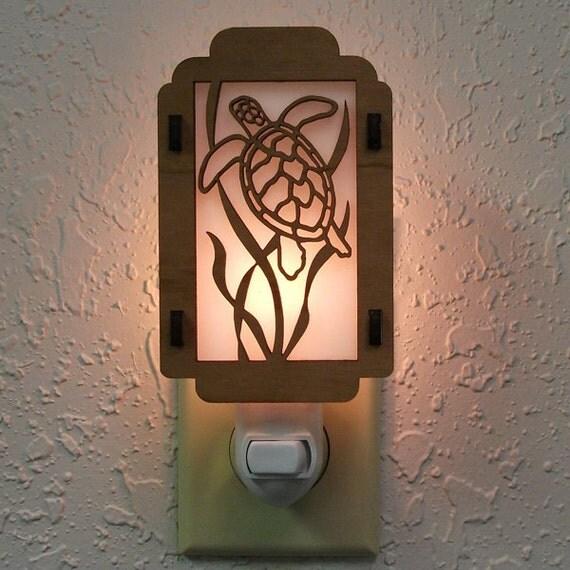 Sea Turtle Night Light with Seaweed sides