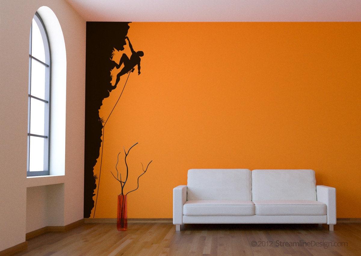 Rock climbing vinyl wall art decor 8ft tall style 2 rock zoom amipublicfo Choice Image