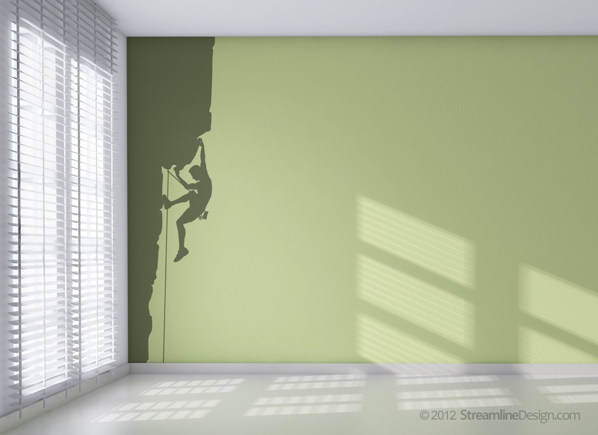 Rock climbing vinyl wall art decor 8ft tall style 3 rock zoom amipublicfo Choice Image