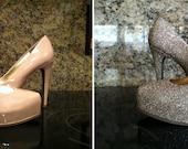 Custom Made Glitter Shoes