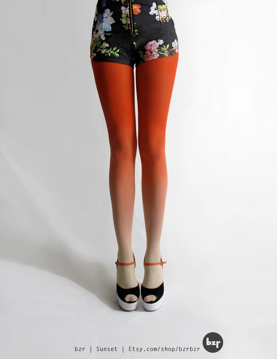 SALE! BZR Ombré tights in Sunset