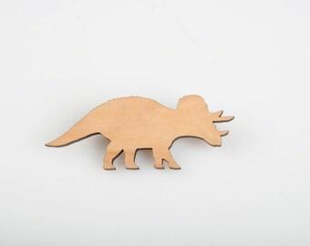 Triceratops Dinosaur Brooch. Dinosaur Pin. Land Before Time. Jurassic World. Jurassic Park. Dinosaur Badge. Triceratops Badge. Laser Cut.