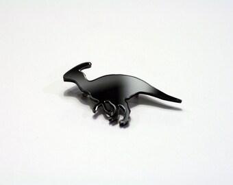 Parasaurolophus Dinosaur Brooch. Dinosaur Pin. Animal Badge. Mens' Jewellery. Groomsman Gift. Groom. Father of the Bride. Dinosaur Wedding.