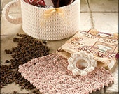 Gift Basket CROCHET PATTERN Coffee Java Lover's Gift Set of (3) patterns