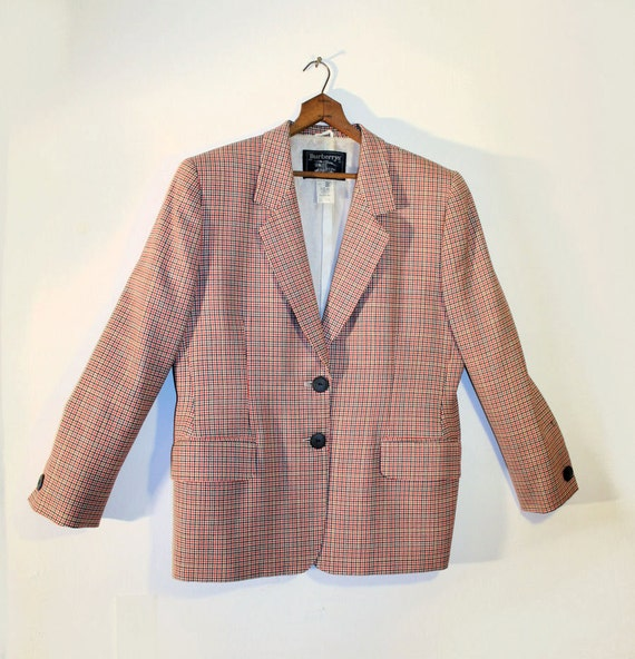 80s Men's Burberry's Blazer Wool Italian Couture Jacket M