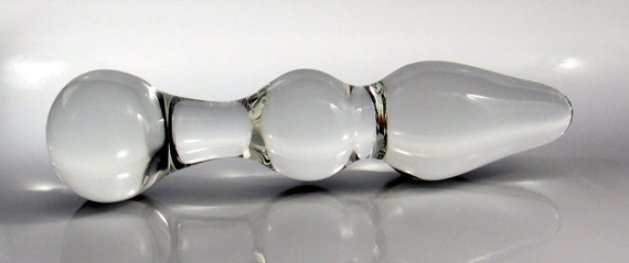 Large Glass Double-Up Probe Dildo / Butt Plug Sex Toy MATURE