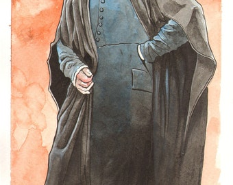 Severus Snape Watercolor Painting