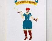 The Moustache Woman - Circus Series