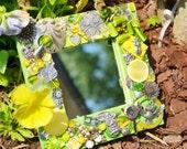 Handmade owl mirror, mosaic mirror, owls,